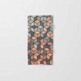 Concrete and Copper Cubes Hand & Bath Towel