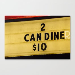 2 can diner Canvas Print