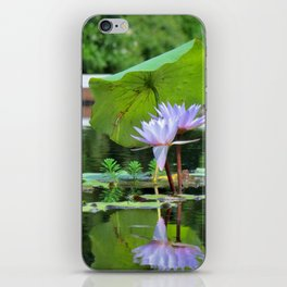 Umbrella Pad For Lilies iPhone Skin