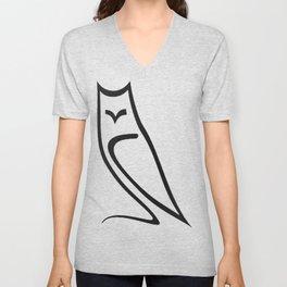 Vector Style Owl Unisex V-Neck
