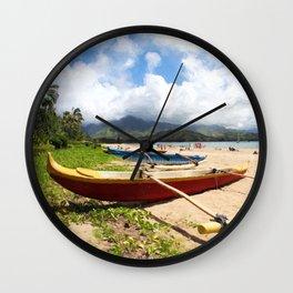 outrigger canoe Wall Clock