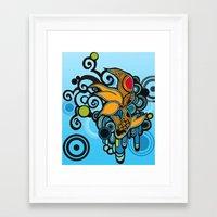 koi fish Framed Art Prints featuring Koi Fish by Diana Dypvik