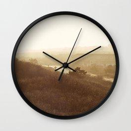 Montauk, NY Sunset Haze Wall Clock