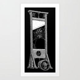 hungry guillotine Art Print