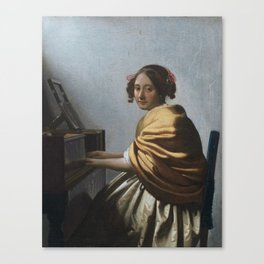"Johannes Vermeer ""A Young Woman Seated at the Virginal"" Canvas Print"