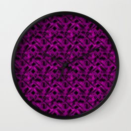Stylish design with rotating circles and violet rectangles from dark stripes. Wall Clock