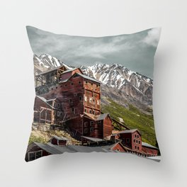 Nature and industry Throw Pillow