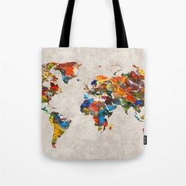 World Map 43 Tote Bag