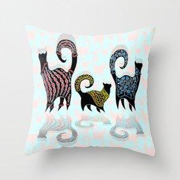 CASHMERE CATS Throw Pillow