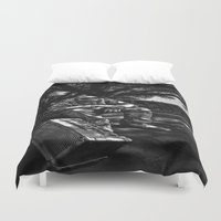 heavy metal Duvet Covers featuring too Heavy Metal by gymmybob