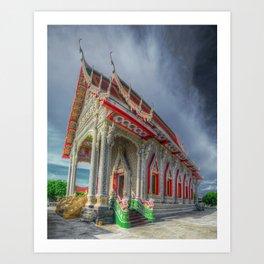 White Temple Thailand Art Print