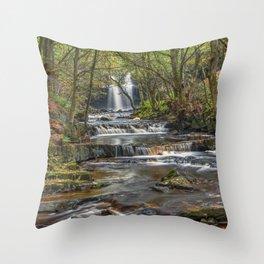 Ingleton falls yorkshire waterfall Throw Pillow