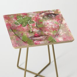 Come Thru Pink and Green Side Table