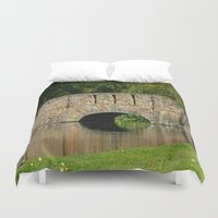 amy pond Duvet Covers featuring Pond by Chris' Landscape Images & Designs