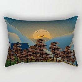 Landscape sunset Rectangular Pillow