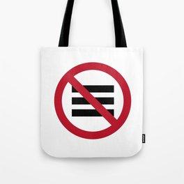 No Hamburger bar Tote Bag