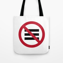 No Hamburger bar Tote Bag