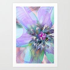 Fractal in Flower Art Print