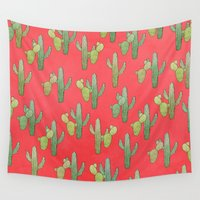 cacti Wall Tapestries featuring Cacti by Megan Dignan