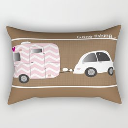 Glamping sweet style with vintage camper. Rectangular Pillow