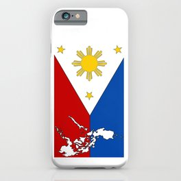 Philippines Flag with Filipino Map iPhone Case