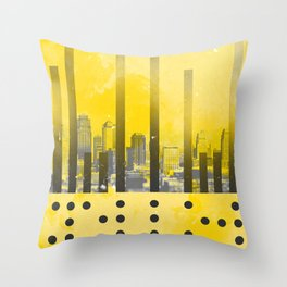 Yellow Abstract Passion Throw Pillow
