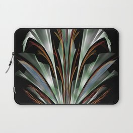 Retro Abstract Floral Design Laptop Sleeve