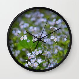 Forget-me-not Close up Wall Clock