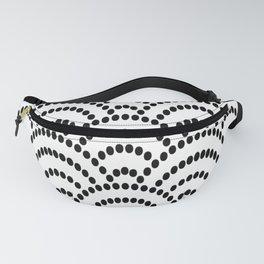 Japanese Seigaiha Dotted Seamless Pattern Geometrical Symbols Fanny Pack