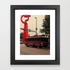 Friendship and a Trolley in San Antonio Framed Art Print
