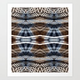 Ethnic hand drawn shibori Art Print
