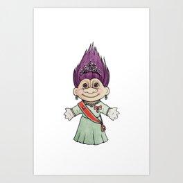 Dronningtroll Art Print