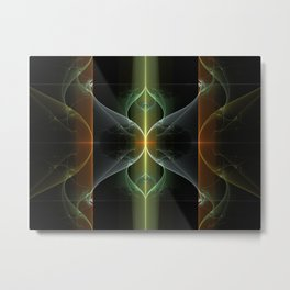 Fairy Gate Fractal Metal Print