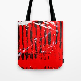 Tribal Tiger - Abstract Acrylic Paint on Canvas Tote Bag