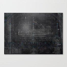 Numbers Diagram Canvas Print