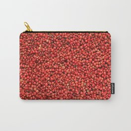 Pink peppercorns background Carry-All Pouch
