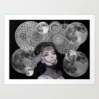 bjork Art Prints featuring Bjork by Luna Portnoi