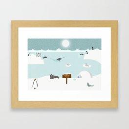 South Pole Framed Art Print