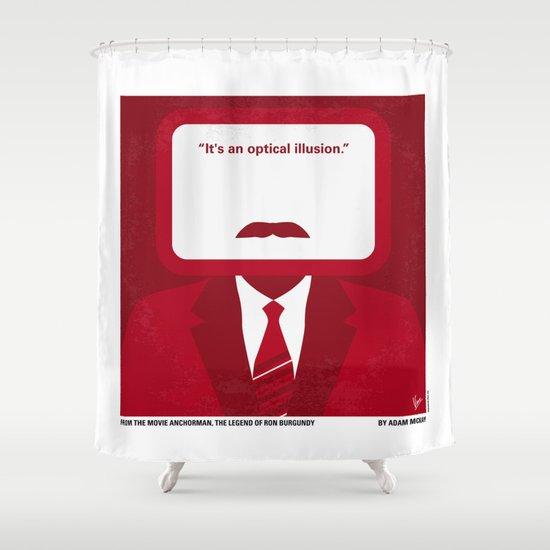 No278 My Anchorman Ron Burgundy minimal movie poster Shower Curtain