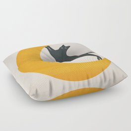 Moon and Cat Floor Pillow