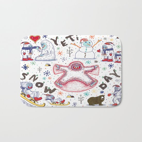 Yeti Snow Day Bath Mat
