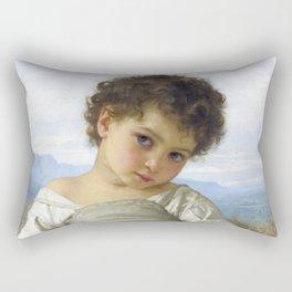 """William-Adolphe Bouguereau """"La tasse de lait (Cup of milk)"""" Rectangular Pillow"""