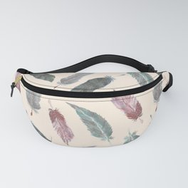 Watercolor Boho Feathers Fanny Pack