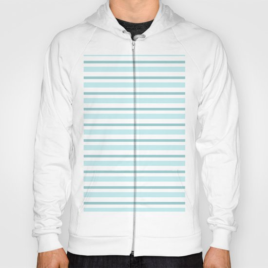 Stripes Lines horizontal - different colors of blue aqua #Society6 Hoody
