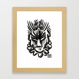 Grumpy ump Framed Art Print