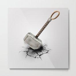 Crack by Thor's Hammer Metal Print