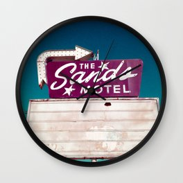 Motel Drive / Sands Motel Sign / Retro Style Wall Clock