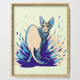 Sphynx Cat - Blue Purple Vanilla - Cat Lover Serving Tray