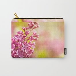 Lilac flowerets bloom bright pink Carry-All Pouch
