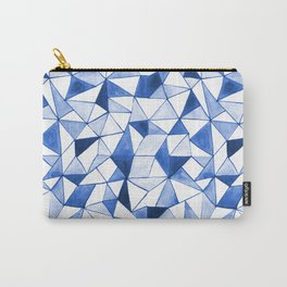 Watercolour Triangles Carry-All Pouch